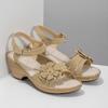 Beżowe sandały zkwiatkiem, beżowy, 661-8613 - 26