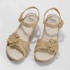 Beżowe sandały zkwiatkiem, beżowy, 661-8613 - 16