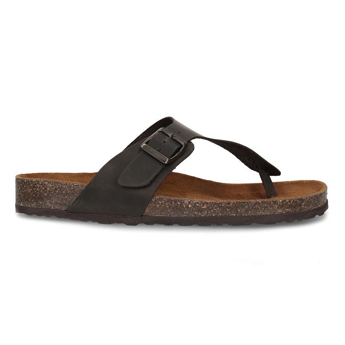 Skórzane japonki męskie bata, brązowy, 866-4848 - 19