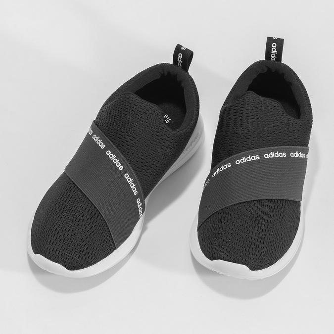 Czarne wsuwane trampki adidas, czarny, 509-6565 - 16