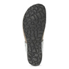 Skórzane japonki zkryształkami, na koturnach bata, szary, 566-2650 - 18