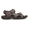 Brązowe skórzane sandały męskie na rzepy weinbrenner, brązowy, 866-4635 - 19