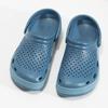 Turkusowe klapki męskie wstylu chodaków coqui, niebieski, 872-9657 - 16