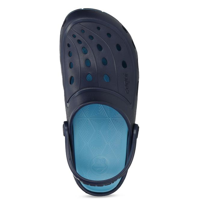 Granatowe sandały dziecięce wstylu chodaków coqui, niebieski, 372-9656 - 17