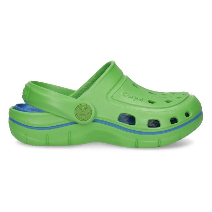 Zielone sandały dziecięce wstylu chodaków coqui, zielony, 372-7656 - 19