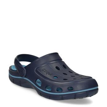 Granatowe sandały dziecięce wstylu chodaków coqui, niebieski, 372-9656 - 13