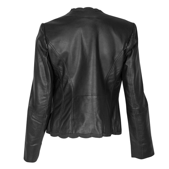 Czarny skórzany żakiet damski bata, czarny, 974-6179 - 26
