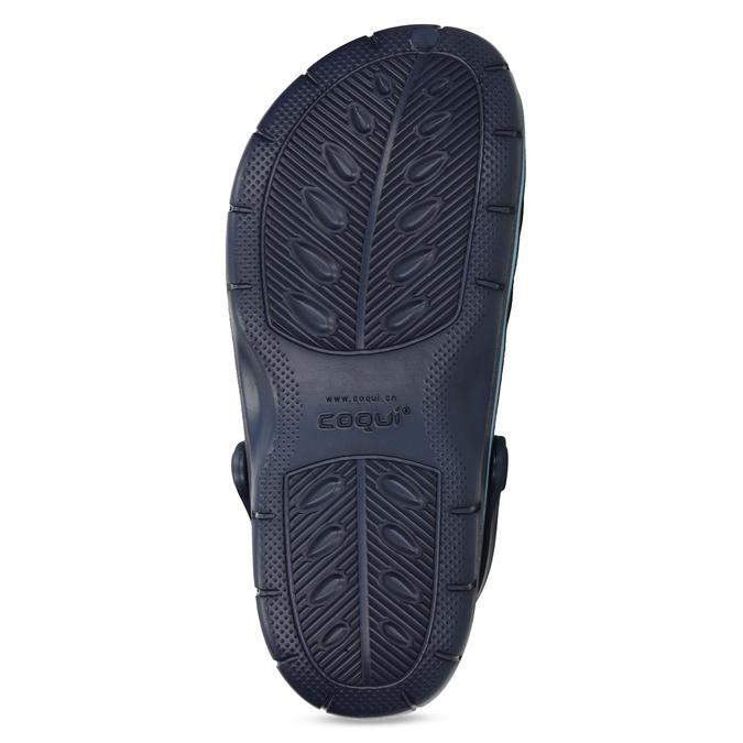 Granatowe sandały dziecięce wstylu chodaków coqui, niebieski, 372-9656 - 18