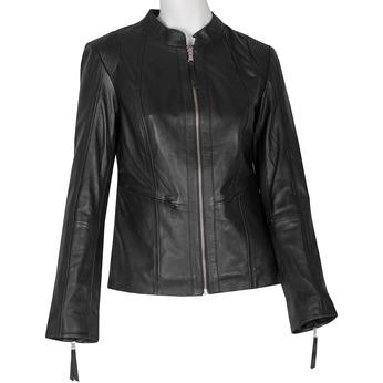 Czarna skórzana kurtka damska bata, czarny, 974-6180 - 13