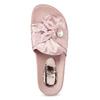 Różowe satynowe klapki zperełkami bata, różowy, 569-5615 - 17