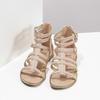 Beżowe sandały damskie typu gladiatorki bata, 561-8620 - 16