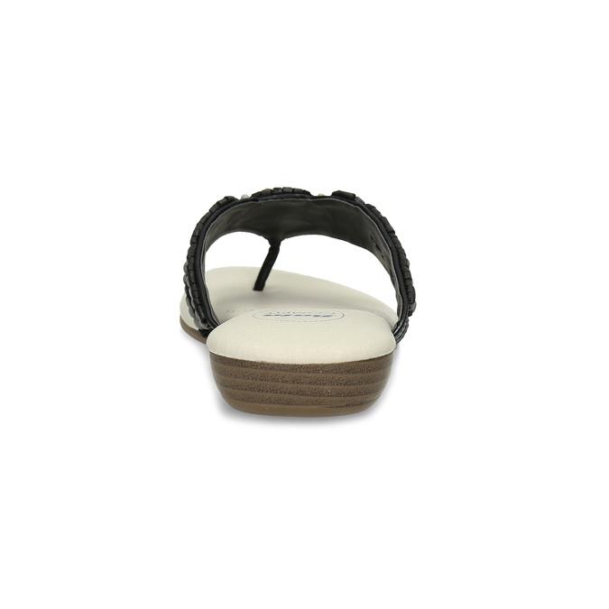 Czarne japonki damskie zkoralikami comfit, czarny, 561-6611 - 15