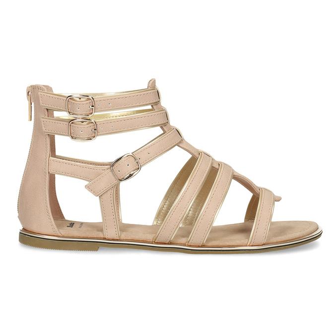 Beżowe sandały damskie typu gladiatorki bata, 561-8620 - 19