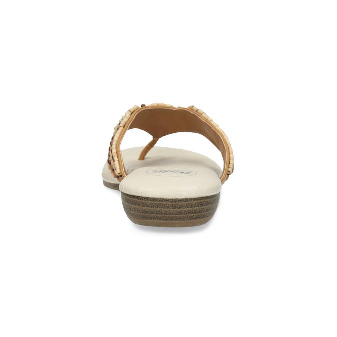 Beżowe japonki damskie zkoralikami comfit, brązowy, 561-8611 - 15