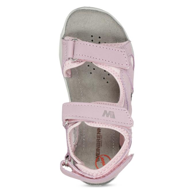 Skórzane sandały dziewczęce wstylu outdoor weinbrenner, różowy, 366-5606 - 17