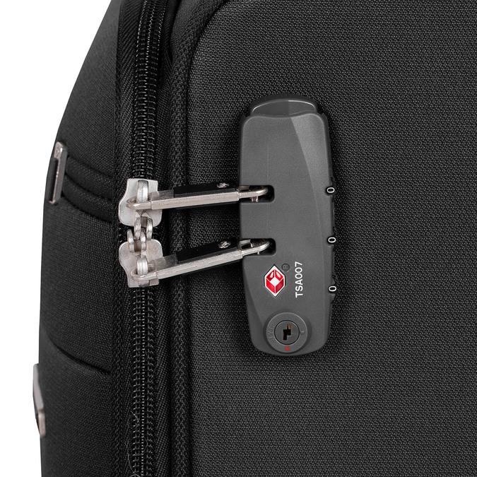 Mała czarna walizka podróżna samsonite, czarny, 969-6617 - 15