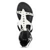 Białe sandały damskie zćwiekami bata, biały, 561-1613 - 17