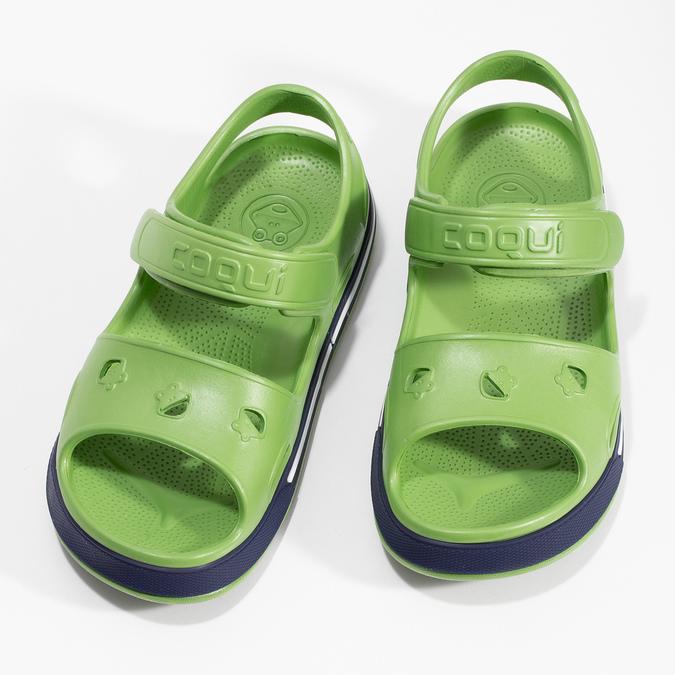 Zielone sandały chłopięce coqui, zielony, 372-7658 - 16