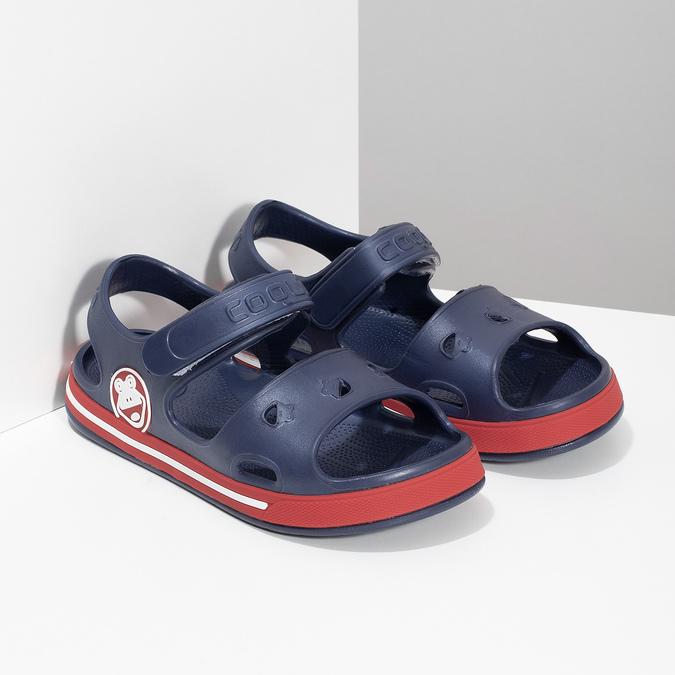 Granatowe sandały dziecęce coqui, niebieski, 372-9658 - 26
