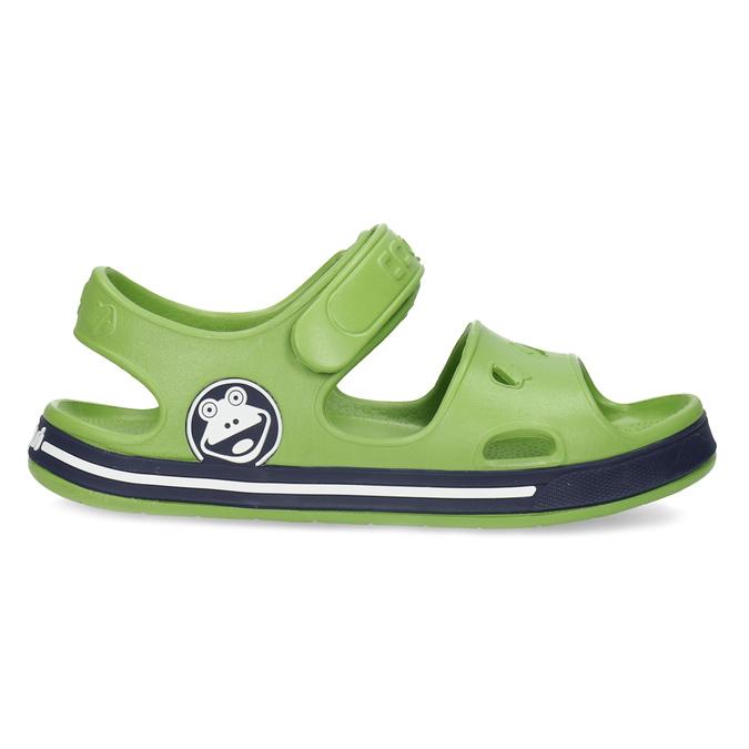 Zielone sandały chłopięce coqui, zielony, 372-7658 - 19