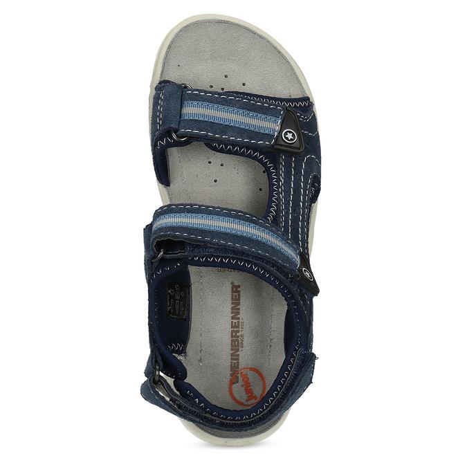 Niebieskie skórzane sandały chłopięce weinbrenner, niebieski, 463-9605 - 17