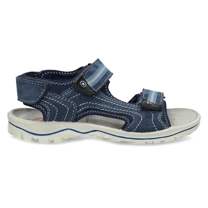 Niebieskie skórzane sandały chłopięce weinbrenner, niebieski, 463-9605 - 19