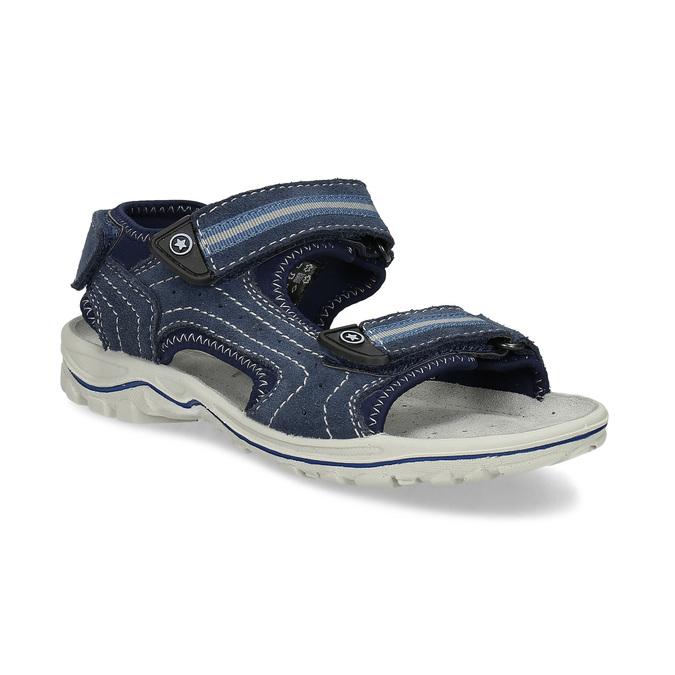 Niebieskie skórzane sandały chłopięce weinbrenner, niebieski, 463-9605 - 13