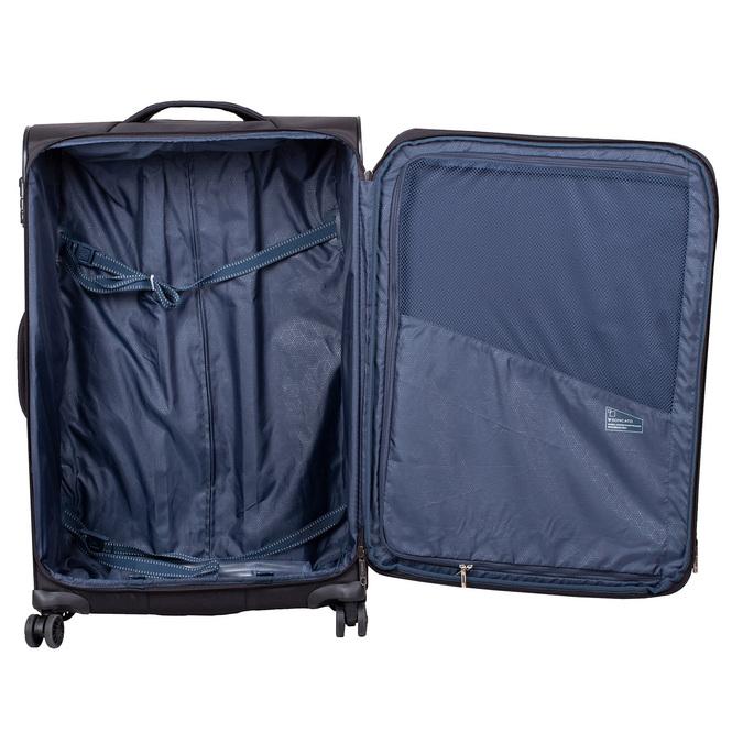 Średnia walizka na kółkach, zmateriału tekstylnego roncato, czarny, 969-6710 - 17