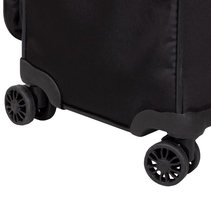 Średnia walizka na kółkach, zmateriału tekstylnego roncato, czarny, 969-6710 - 16