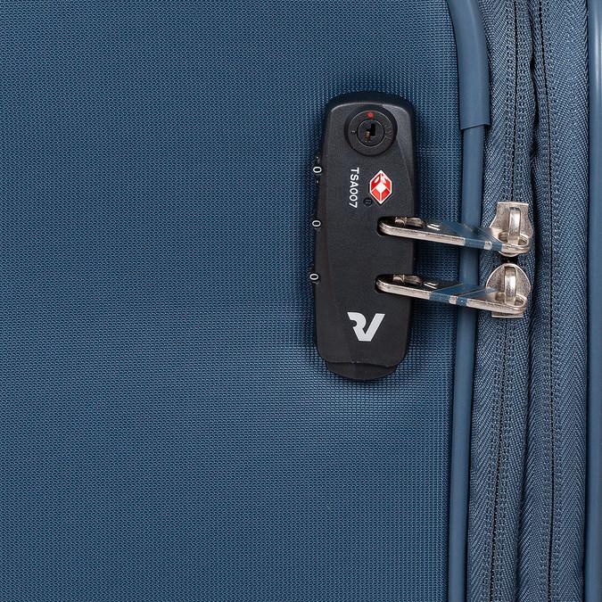 Turkusowa walizka pokładowa roncato, niebieski, 969-9722 - 15