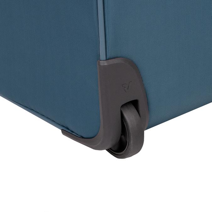 Duża turkusowa walizka na kółkach, zmateriału tekstylnego roncato, niebieski, 969-9719 - 16