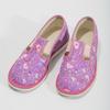 Różowe wzorzyste kapcie dziecięce bata, różowy, 379-5218 - 16