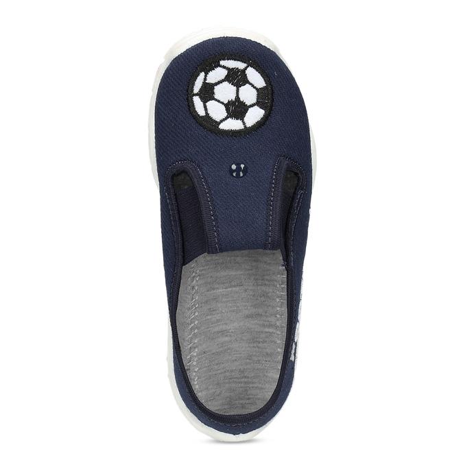 Granatowe obuwie dziecięce typu slip-on mini-b, niebieski, 379-9601 - 17