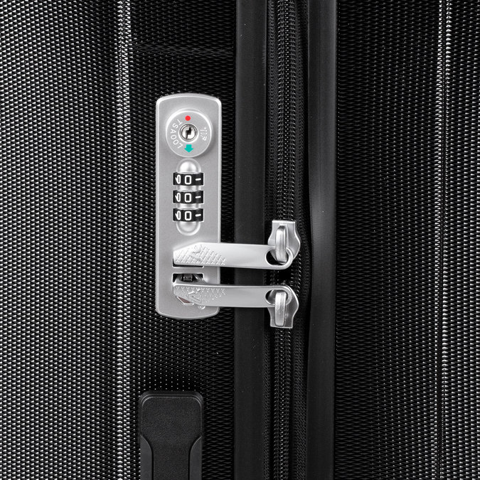 Duża twarda walizka roncato, czarny, 960-6737 - 15
