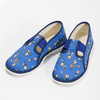 Granatowe wzorzyste kapcie dziecięce bata, niebieski, 179-9213 - 16