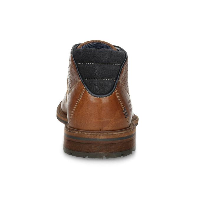Brązowe skórzane obuwie męskie za kostkę bata, brązowy, 826-3505 - 15