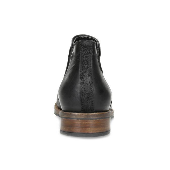 Męskie sztyblety z czarnej skóry bata, czarny, 826-6504 - 15
