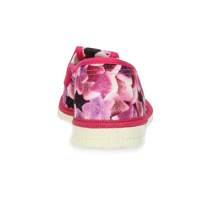 Różowe wzorzyste kapcie dziecięce bata, różowy, 379-9123 - 15