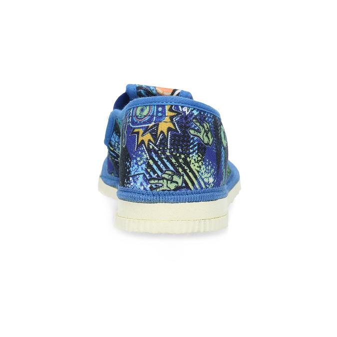 Niebieskie wzorzyste kapcie dziecięce bata, niebieski, 379-9125 - 15