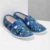 Niebieskie wzorzyste kapcie dziecięce bata, niebieski, 279-9124 - 26