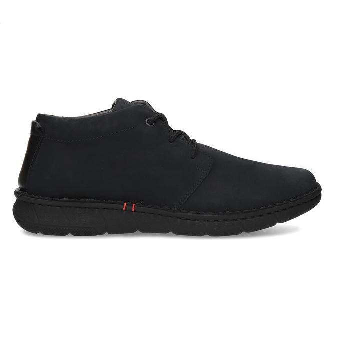 Czarne skórzane obuwie męskie za kostkę bata, czarny, 846-6716 - 19