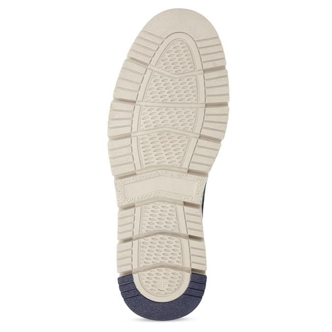 Niebieskie skórzane obuwie męskie za kostkę weinbrenner, niebieski, 846-9658 - 18