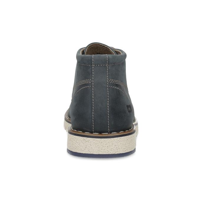 Niebieskie skórzane obuwie męskie za kostkę weinbrenner, niebieski, 846-9658 - 15