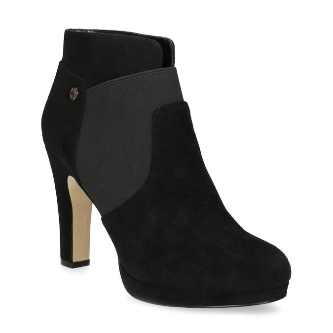 Czarne botki na szpilkach bata, czarny, 799-6624 - 13