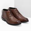 Skórzane obuwie męskie za kostkę bata, brązowy, 826-3893 - 26