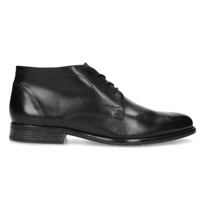 Skórzane buty męskie za kostkę bata, czarny, 824-6892 - 19
