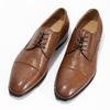 Brązowe skórzane półbuty męskie bata, brązowy, 826-3406 - 16