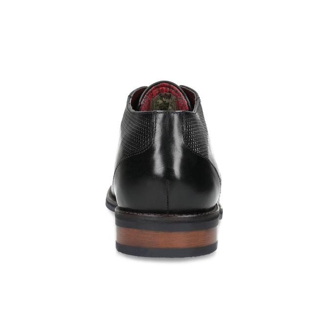 Czarne skórzane półbuty bugatti, czarny, 826-6052 - 15