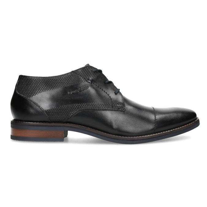 Czarne skórzane półbuty bugatti, czarny, 826-6052 - 19