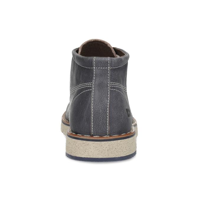 Skórzane obuwie męskie za kostkę weinbrenner, niebieski, 846-2658 - 15